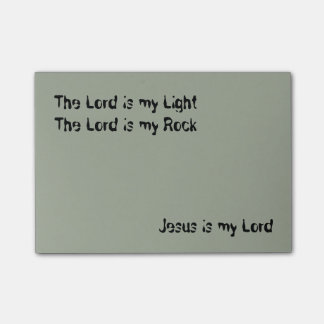 Jesus is my Lord Post-it® Notes 4 x 3