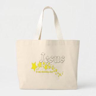 Jesus is my shooting star tote bags