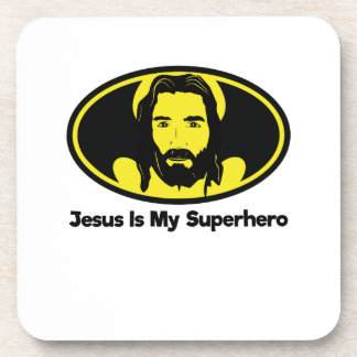 Jesus Is My Superhero Jesus Christian Coaster
