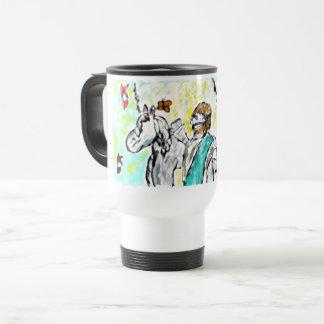 Jesus is only king travel mug