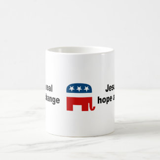 Jesus is real hope and change mugs