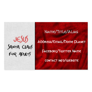 Jesus Is Santa For Adults Double-Sided Standard Business Cards (Pack Of 100)