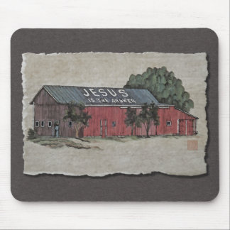 Jesus Is The Answer Barn Mousepad