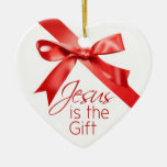 Jesus is the Gift Christmas Ornament