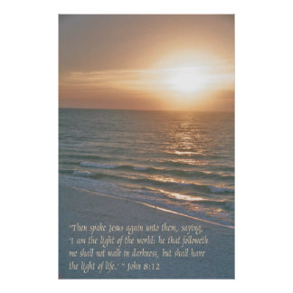 Jesus is the light of the world poster