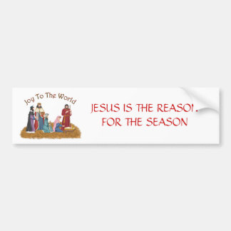 JESUS IS THE REASON FOR THE SEASON BUMPER STICKER