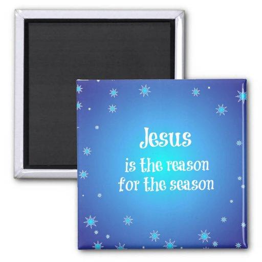 Jesus is the reason for the Season Christmas Fridge Magnet