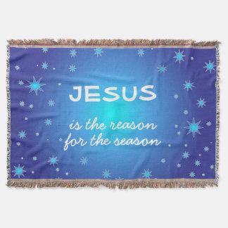 Jesus is the reason for the Season Christmas Throw Blanket