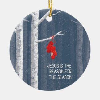 Jesus is the reason for the season round ceramic decoration