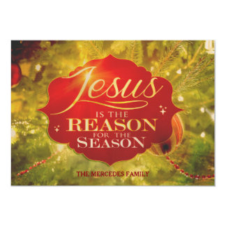Jesus Is The Reason For The Season Holiday Card 13 Cm X 18 Cm Invitation Card