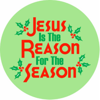 Jesus Is The Reason For The Season Standing Photo Sculpture
