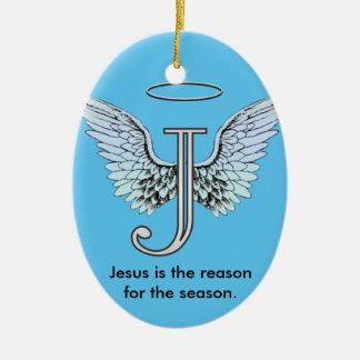 Jesus is the Reason of the Season Ceramic Oval Decoration