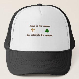 Jesus is the reason we celebrate the season trucker hat