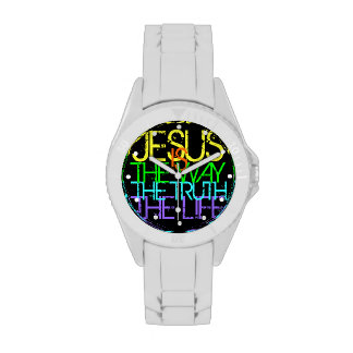 Jesus is the Way, the Truth, the Life Neon Wristwatch