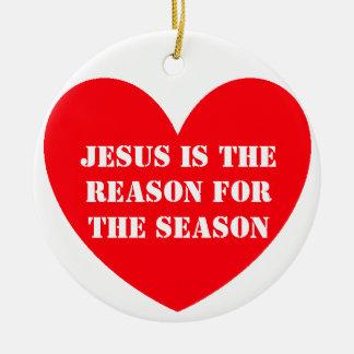 JESUS IS THEREASON FORTHE SEASON CHRISTMAS ORNAMENT