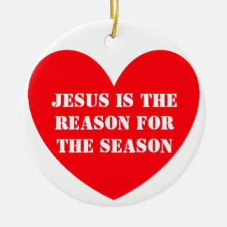 JESUS IS THEREASON FORTHE SEASON ROUND CERAMIC DECORATION