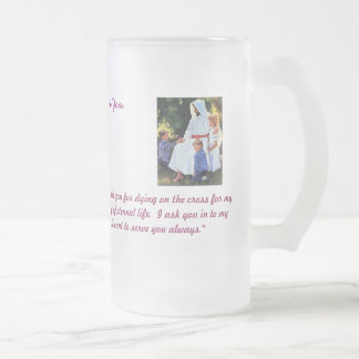 Jesus is with you Glass Coffee Mugs