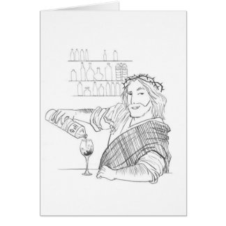 Jesus is your Bartender greeting cards