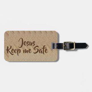 Jesus keep me safe Luggage Tag