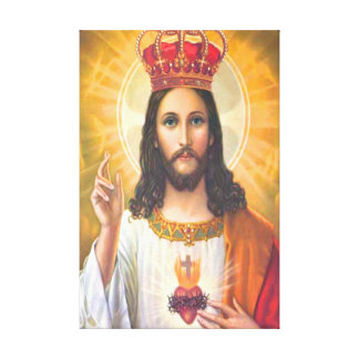 Jesus King Wrapped Canvas Canvas Prints