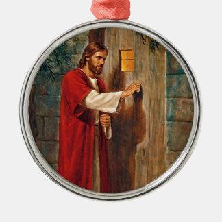 Jesus knocks On The Door Metal Ornament