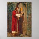 Jesus knocks On The Door Poster