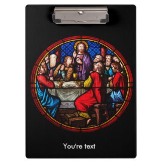 Jesus last meal with his disciples clipboard