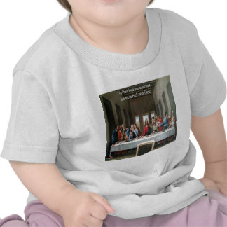 """Jesus @ Last Supper """"Love One Another"""" Quote Tee Shirts"""