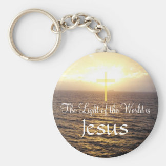 Jesus-Light of the World Basic Round Button Key Ring