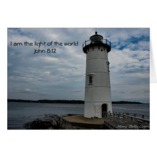 Jesus Light of the World Card