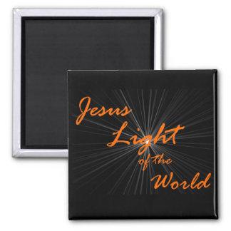 Jesus light square magnet