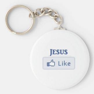 Jesus Like Basic Round Button Key Ring
