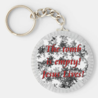 Jesus Lives Basic Round Button Key Ring