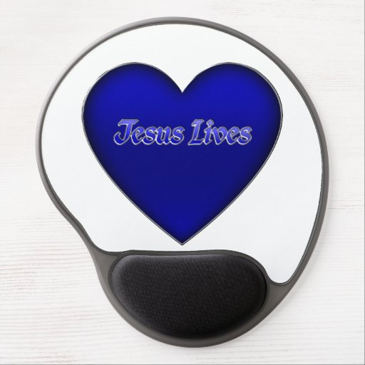 Jesus Lives Heart Christian Mousepad Gel Mouse Pads