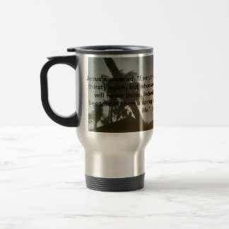 Jesus - Living Water - Travel Mug for Christians
