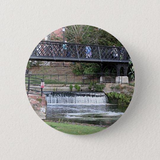Jesus Lock footbridge, Cambridge 6 Cm Round Badge
