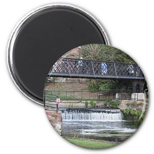 Jesus Lock footbridge, Cambridge 6 Cm Round Magnet