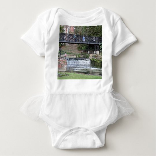 Jesus Lock footbridge, Cambridge Baby Bodysuit