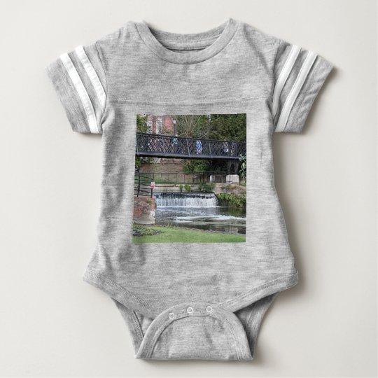 Jesus Lock footbridge, Cambridge Baby Bodysuit