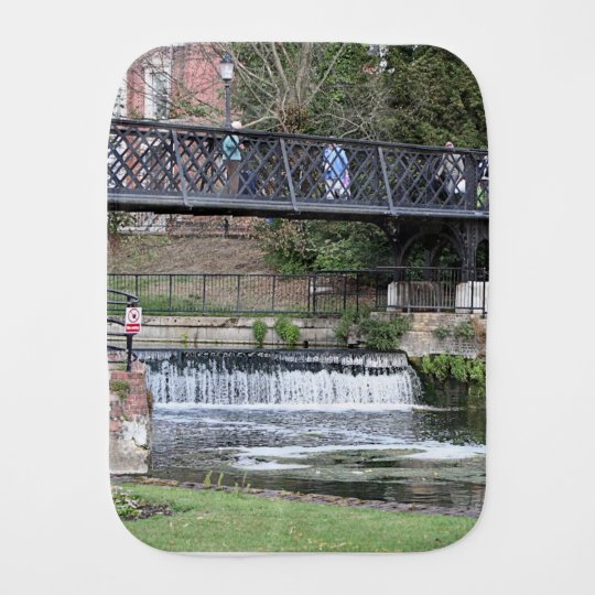 Jesus Lock footbridge, Cambridge Baby Burp Cloths