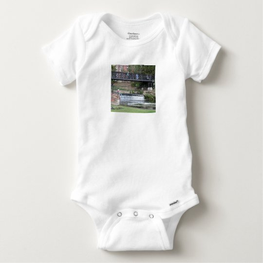 Jesus Lock footbridge, Cambridge Baby Onesie