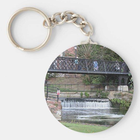 Jesus Lock footbridge, Cambridge Basic Round Button Key Ring