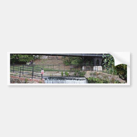 Jesus Lock footbridge, Cambridge Bumper Sticker