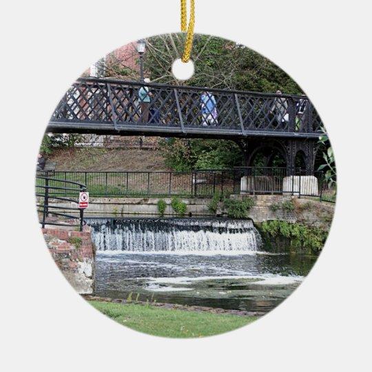 Jesus Lock footbridge, Cambridge Ceramic Ornament