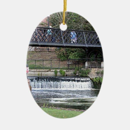 Jesus Lock footbridge, Cambridge Ceramic Oval Decoration
