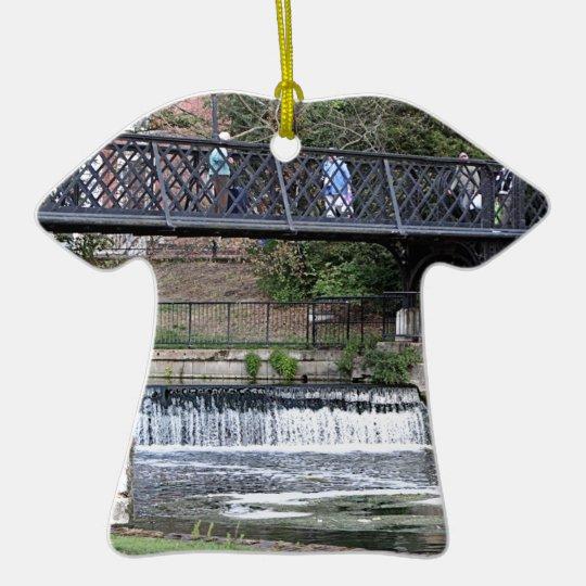 Jesus Lock footbridge, Cambridge Ceramic T-Shirt Decoration