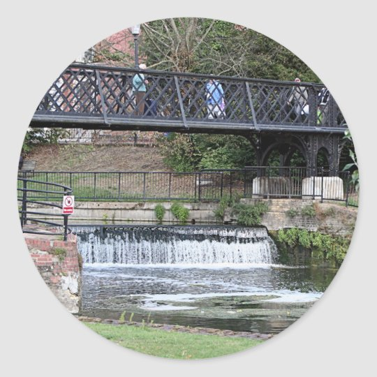 Jesus Lock footbridge, Cambridge Classic Round Sticker