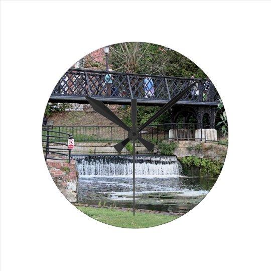 Jesus Lock footbridge, Cambridge Clocks