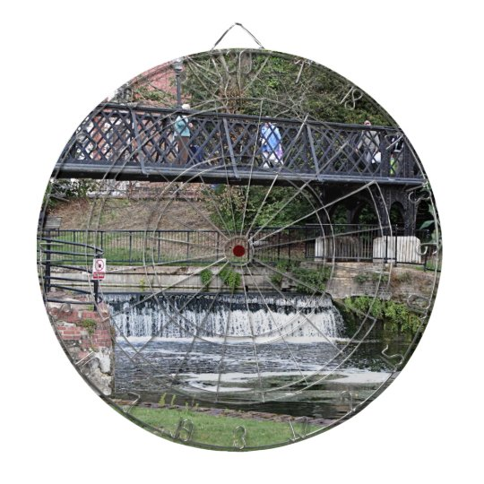 Jesus Lock footbridge, Cambridge Dartboard