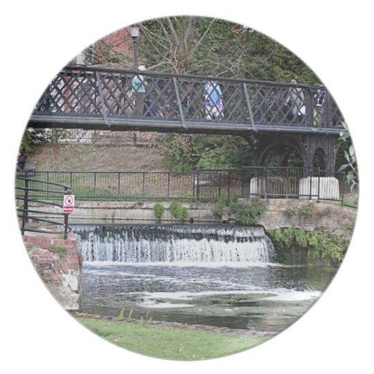 Jesus Lock footbridge, Cambridge Dinner Plate